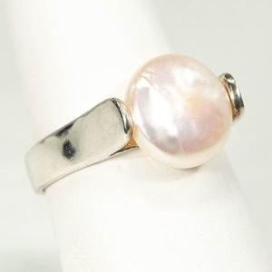 Jewelry - Light Pink Cultured Pearl 925 Sterling Silver Ring